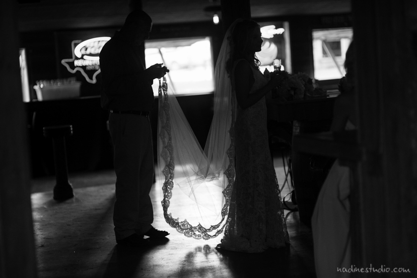 black and white veil shadow