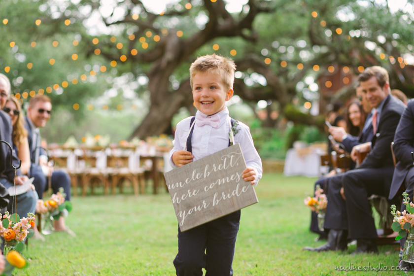 ring bearer here comes your bride wooden sign
