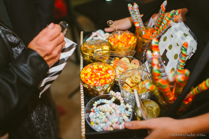 halloween candy during a wedding