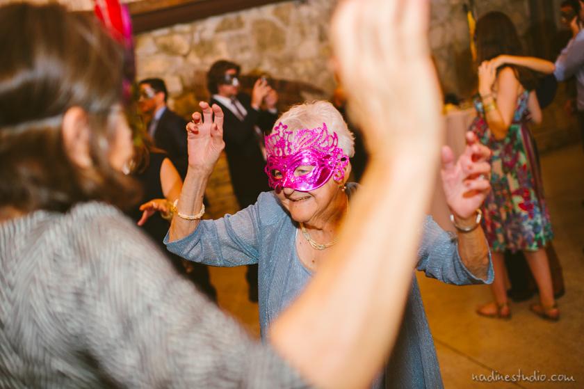 grandma in a mask
