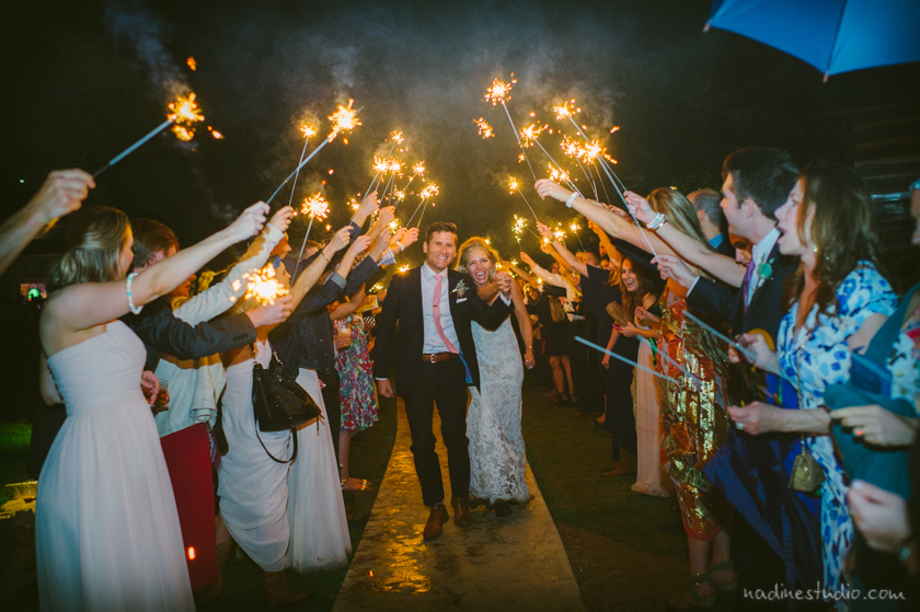 gorgeous sparkler exit in the night