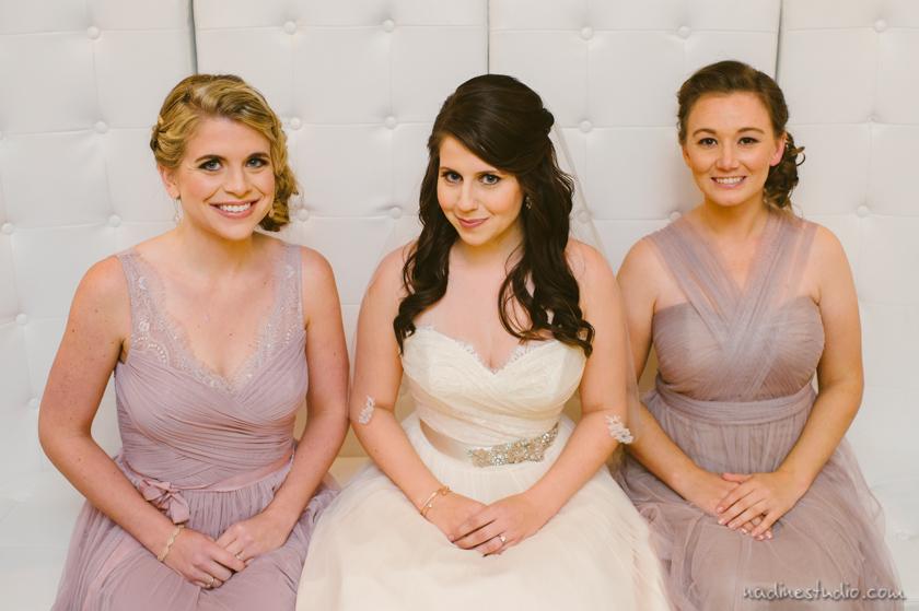 bridesmaid in pale lavender