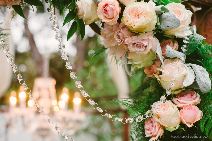 flowers and crystals