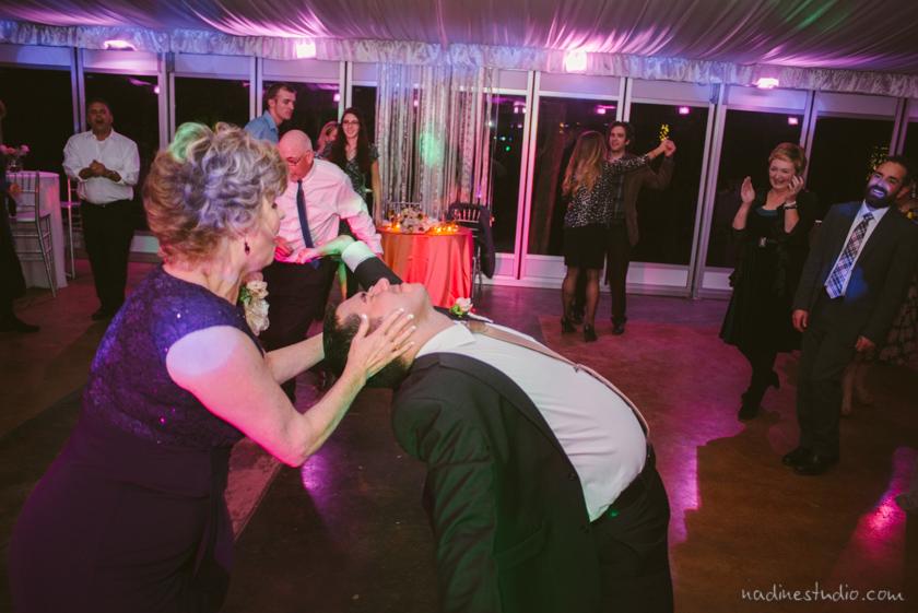 fun dancing at a wedding