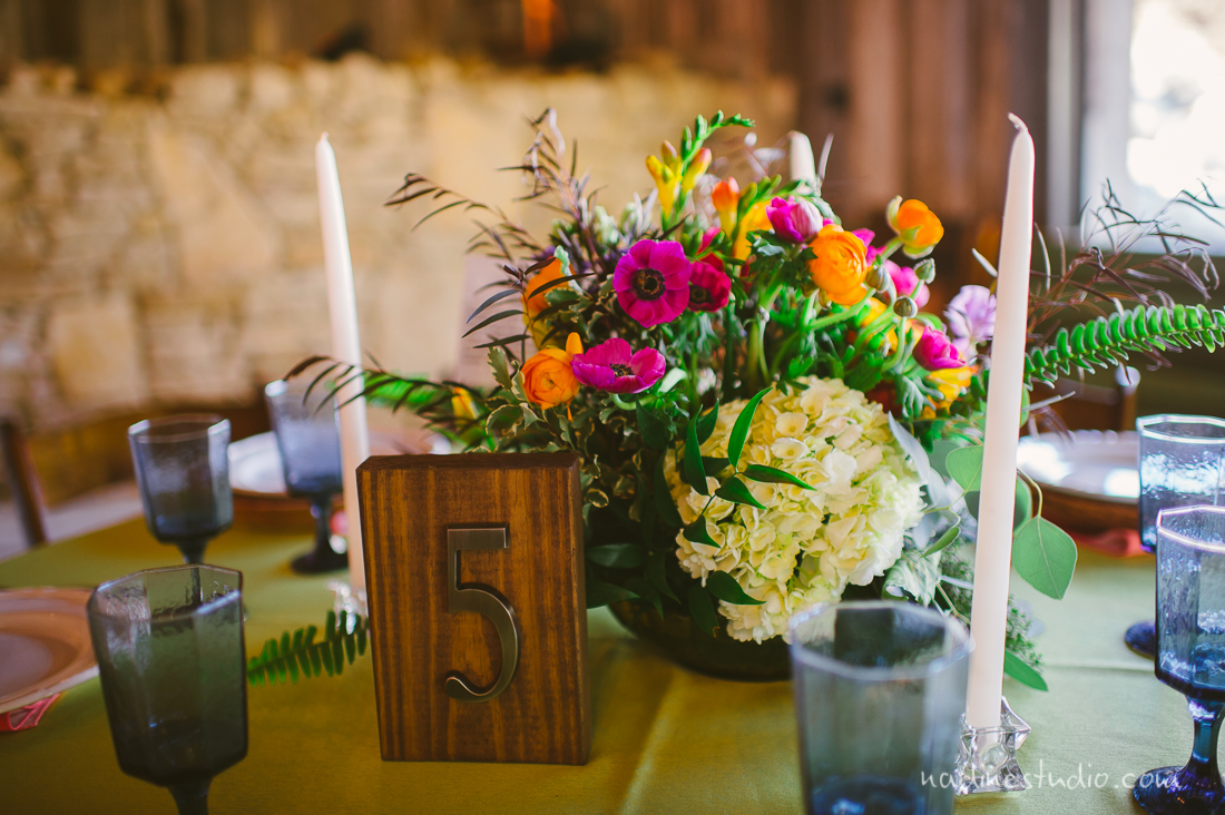 wooden block numbers for table centerpieces