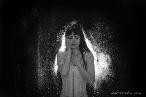 flour powder dance photography