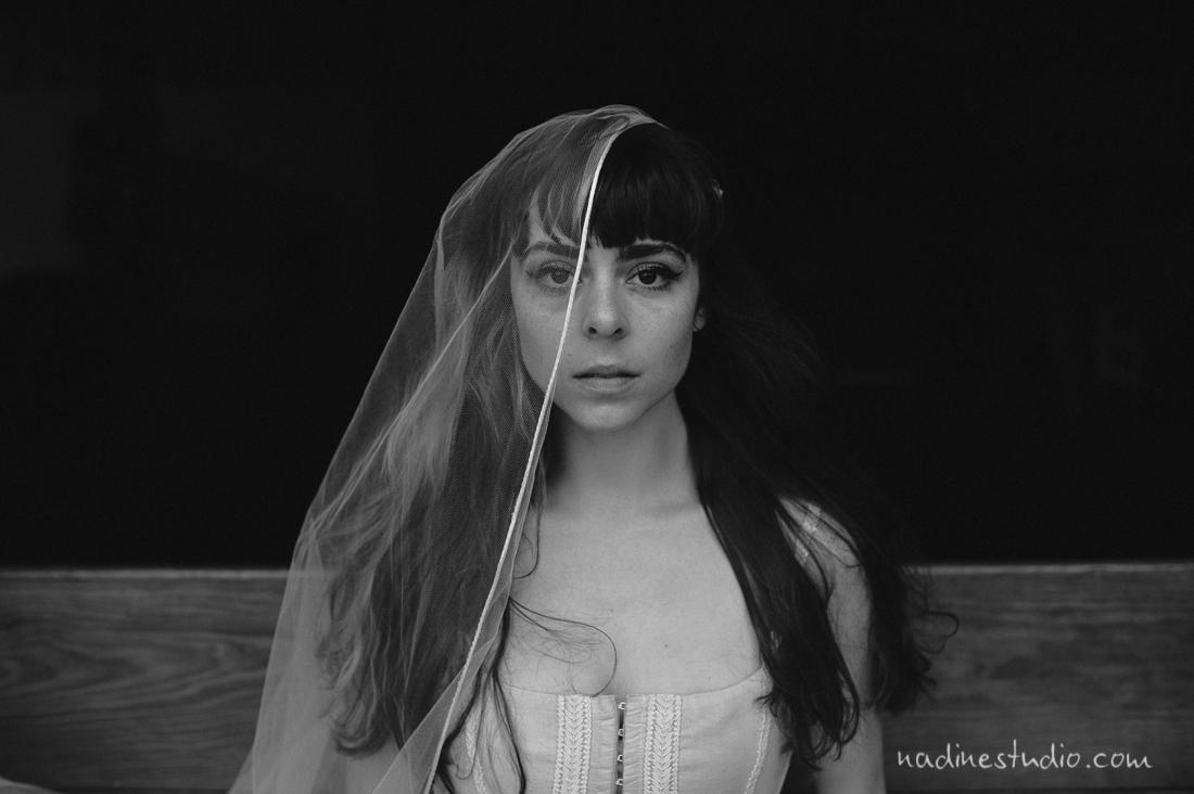 dancer veil bridal
