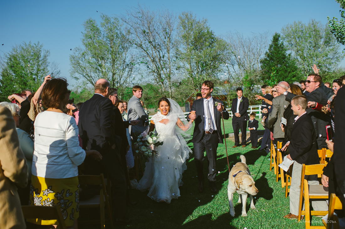 ceremony with a dog