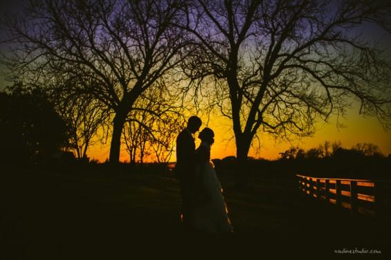 sunset at brenham texas