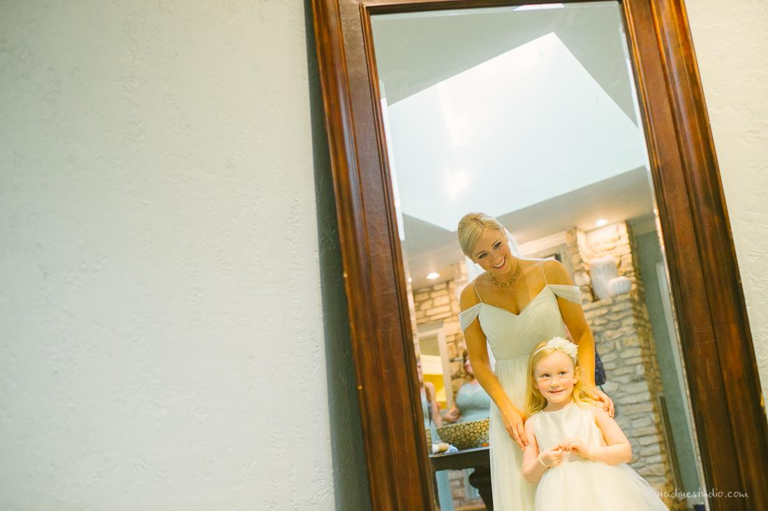 austin wedding photographers bridesmaid and flower girl