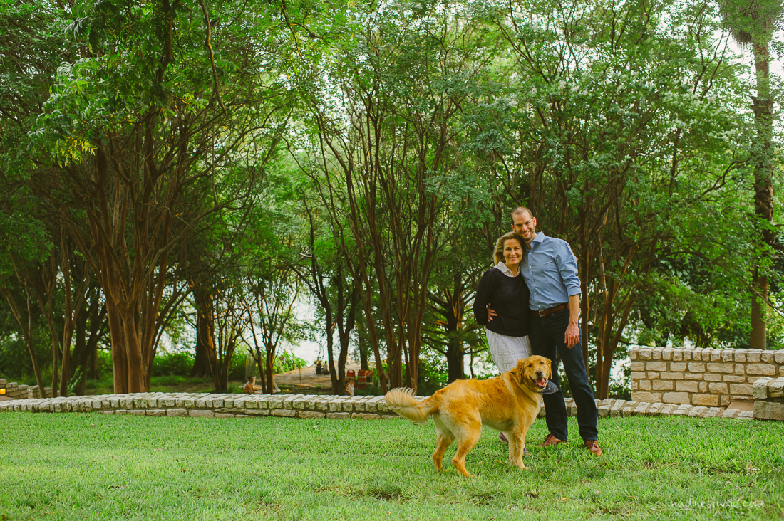 engagement session with doggy