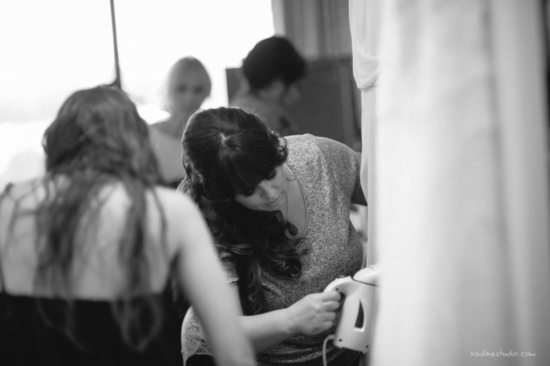 bridesmaid ironing dress