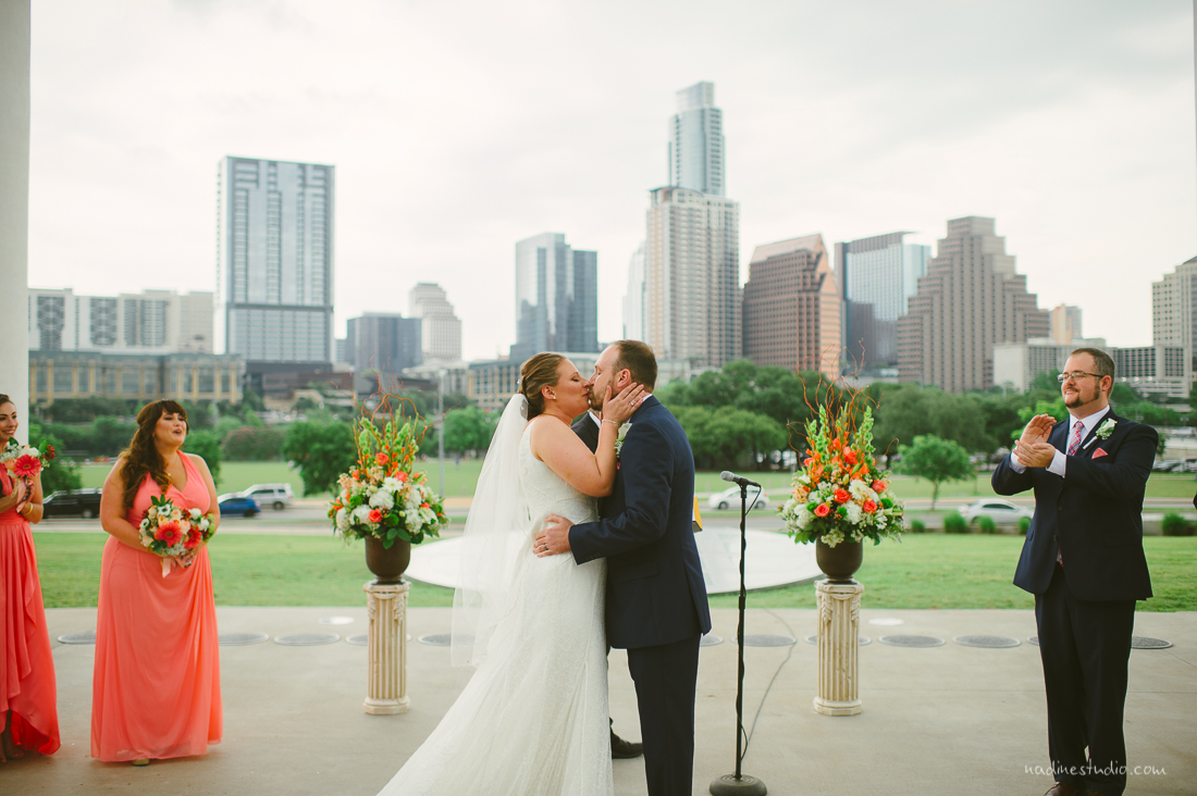 at the long center wedding outside
