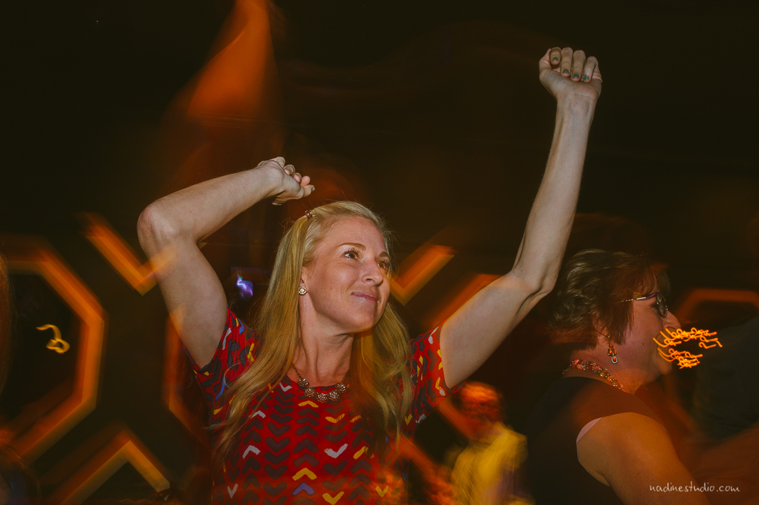 dancing at the highball during a wedding reception