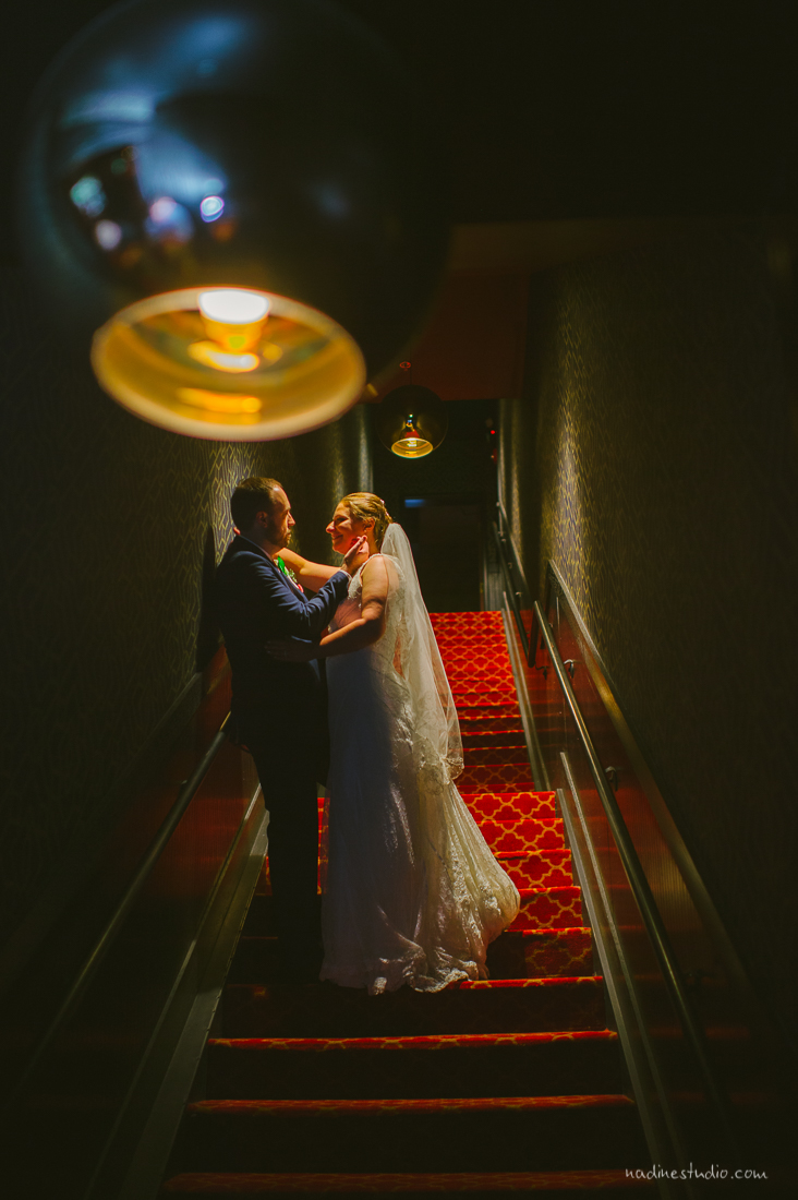 alamo drafthouse highball wedding portraits