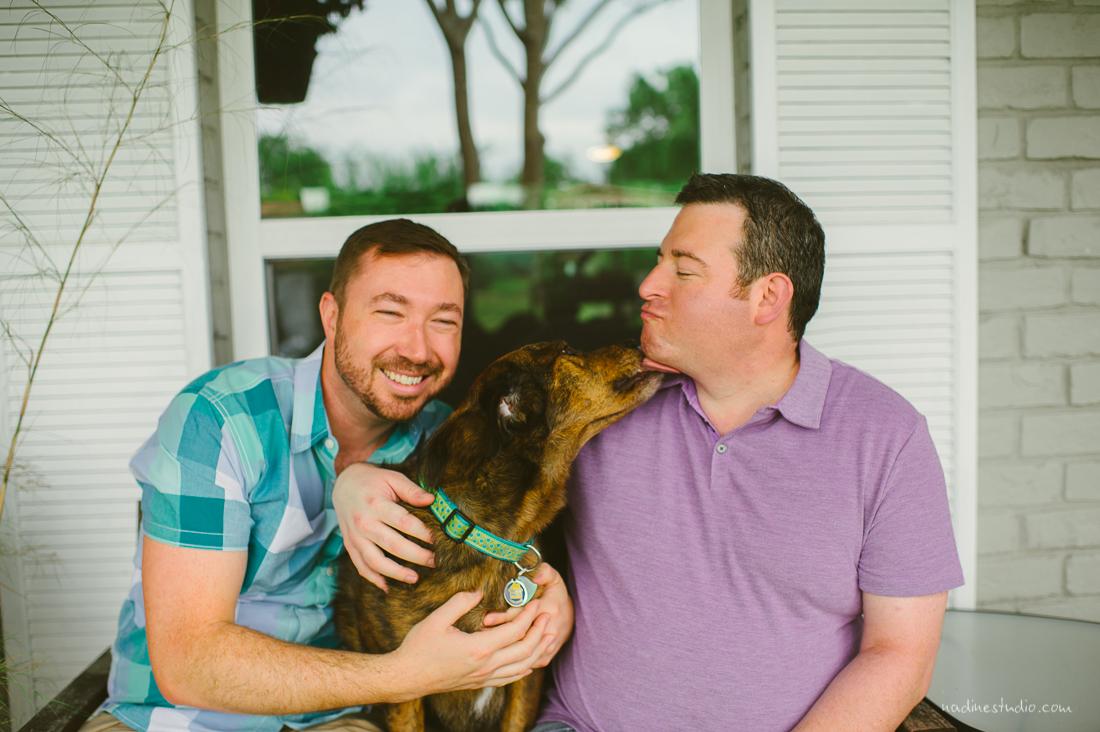 couple portraits with dog