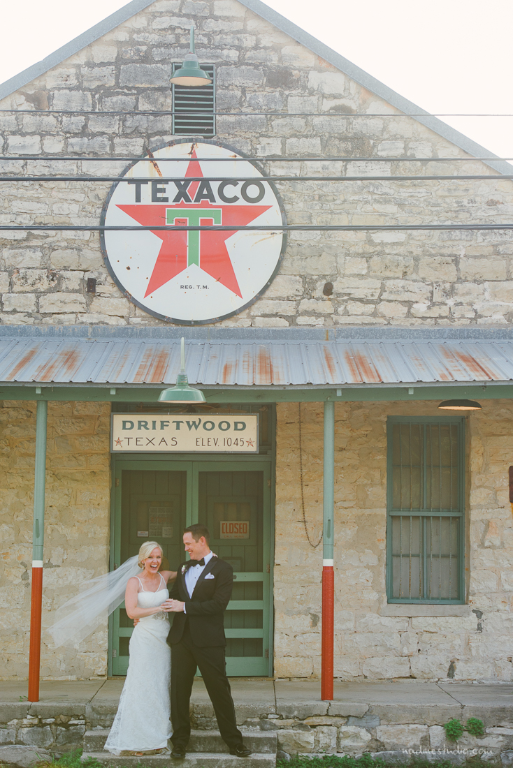 couple portrait at the texaco driftwood