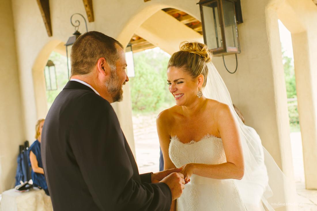 bride being happy
