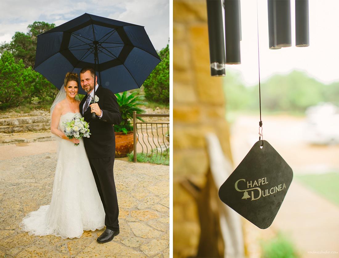rainy chapel dulcinea wedding photos