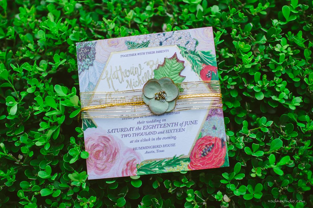 garden wedding invite