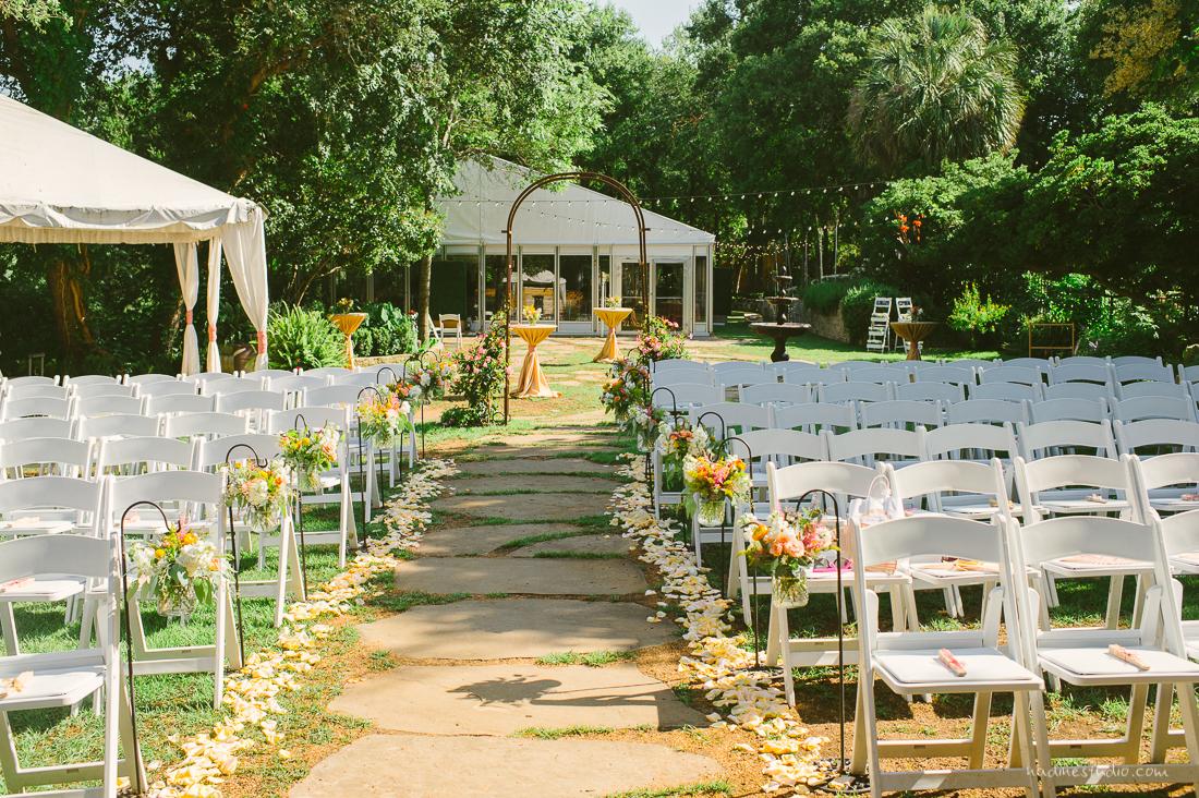 garden anthropologie setup for a ceremony