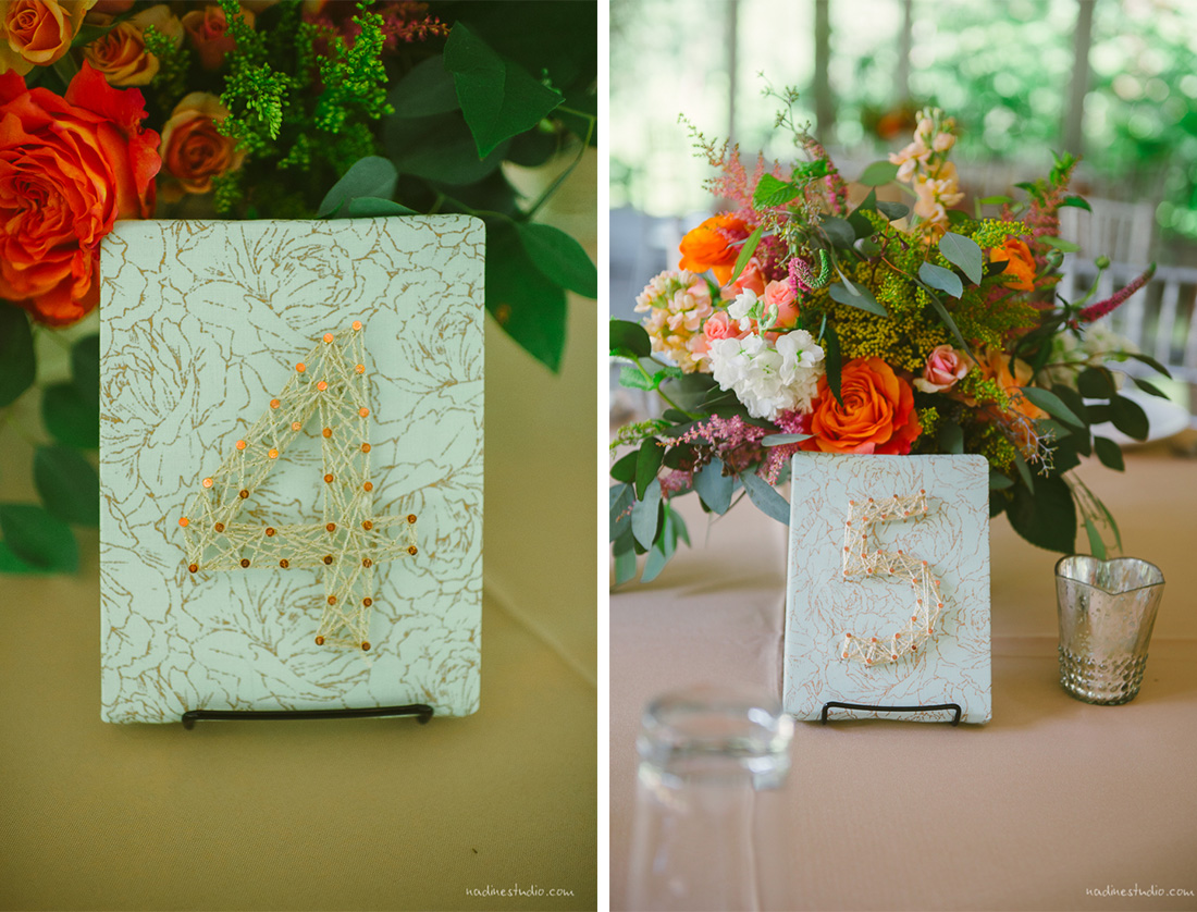 flower and pin string numbers for wedding centerpieces