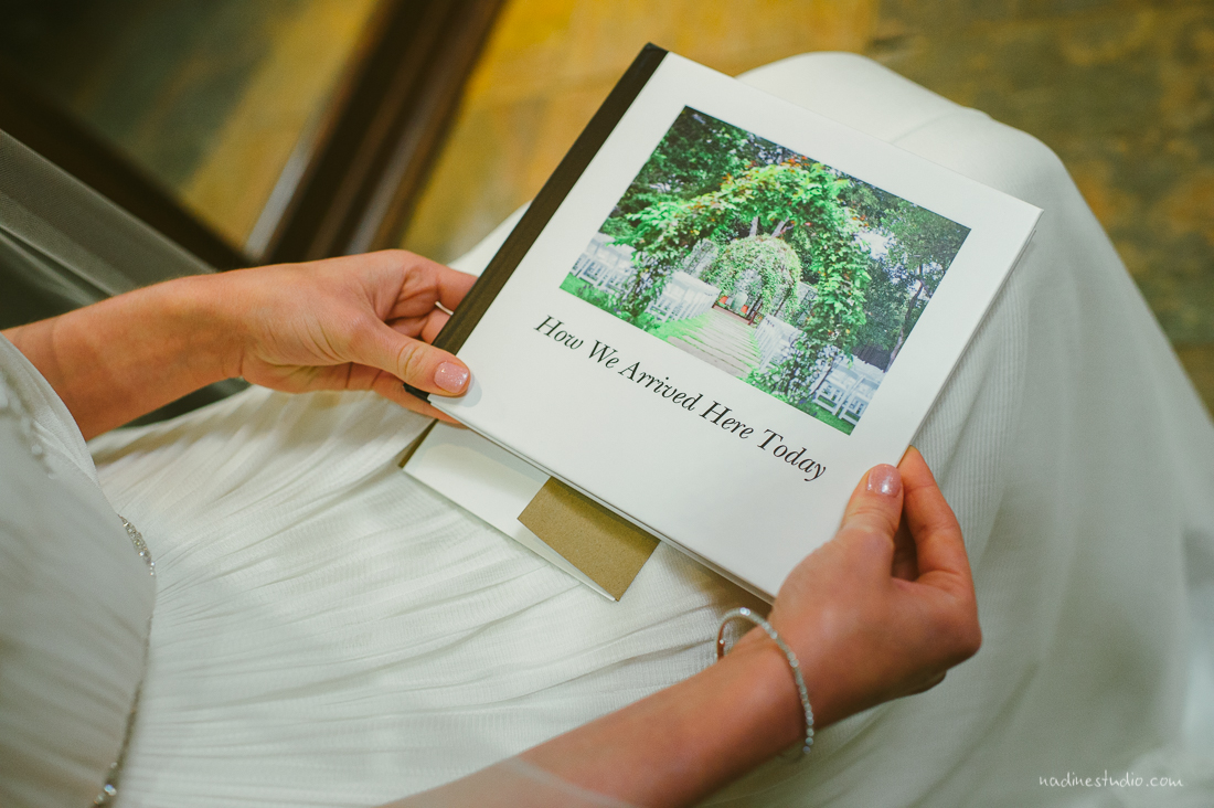 how we got her, a personalized book given by the groom to a bride