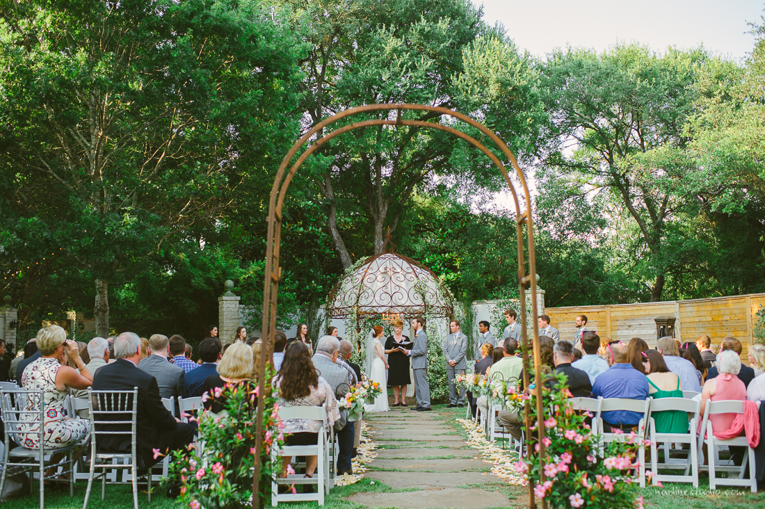 hummingbird house wedding ceremony in manchaca