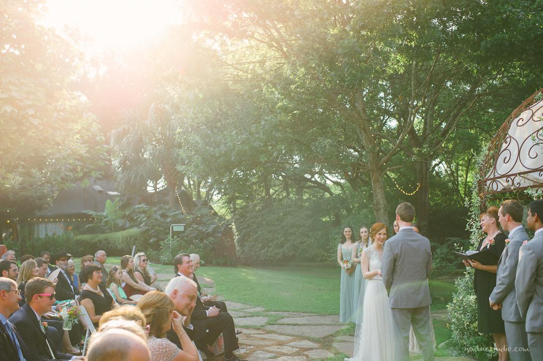 sunset wedding in austin, texas
