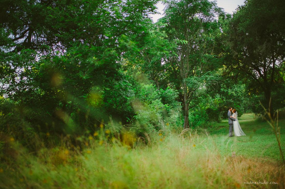 grassy austin wedding portraits