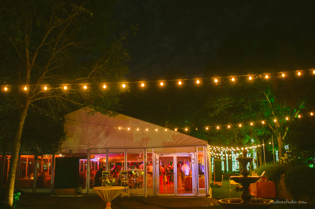 hummingbird house wedding venue at night