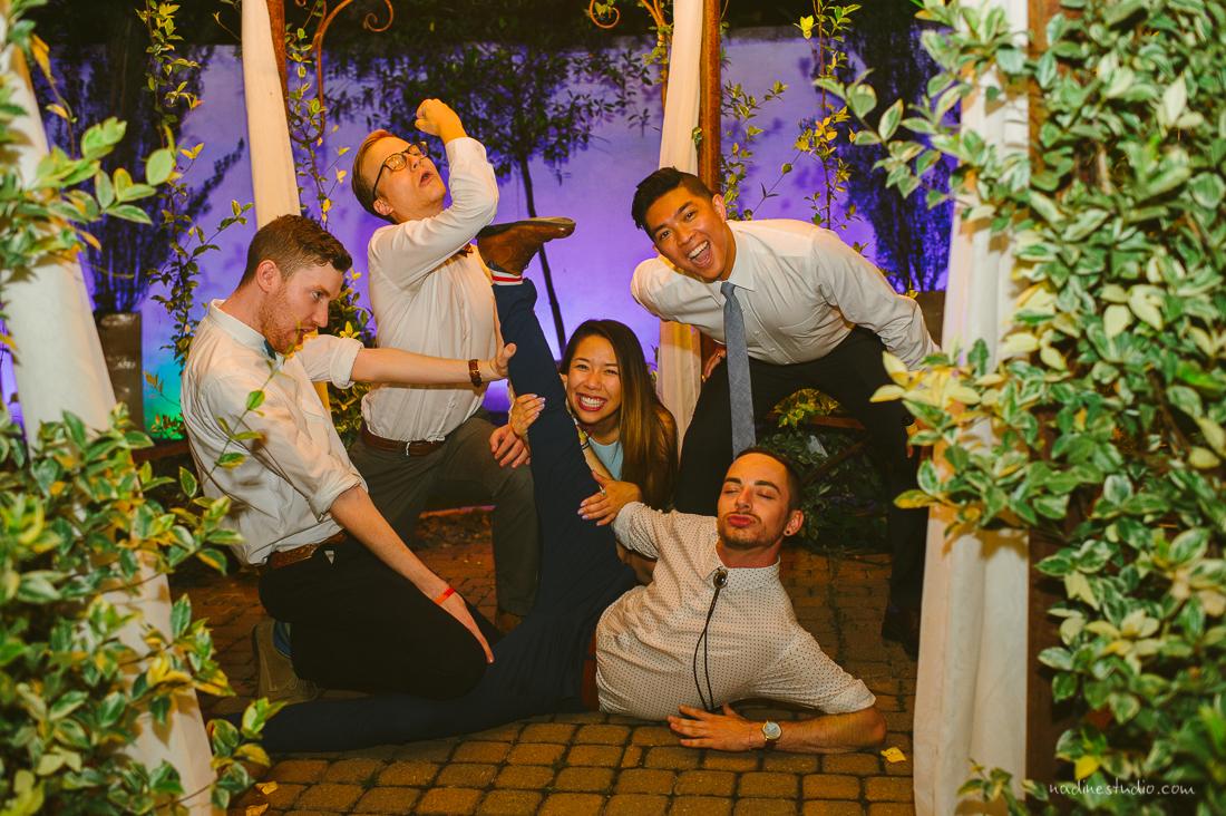 funny reception party posing