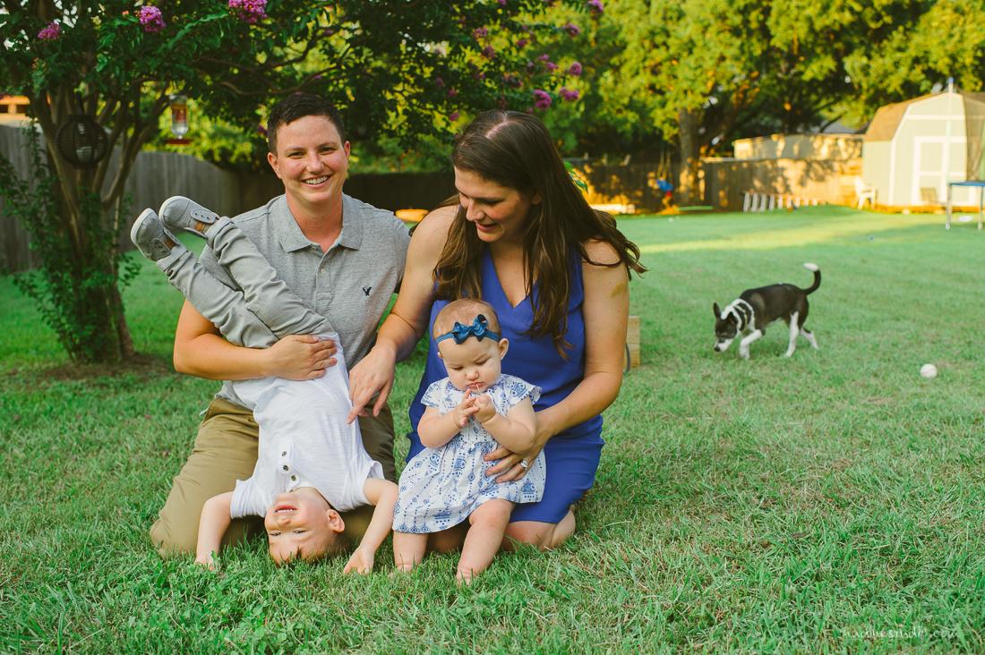 happy lesbian family