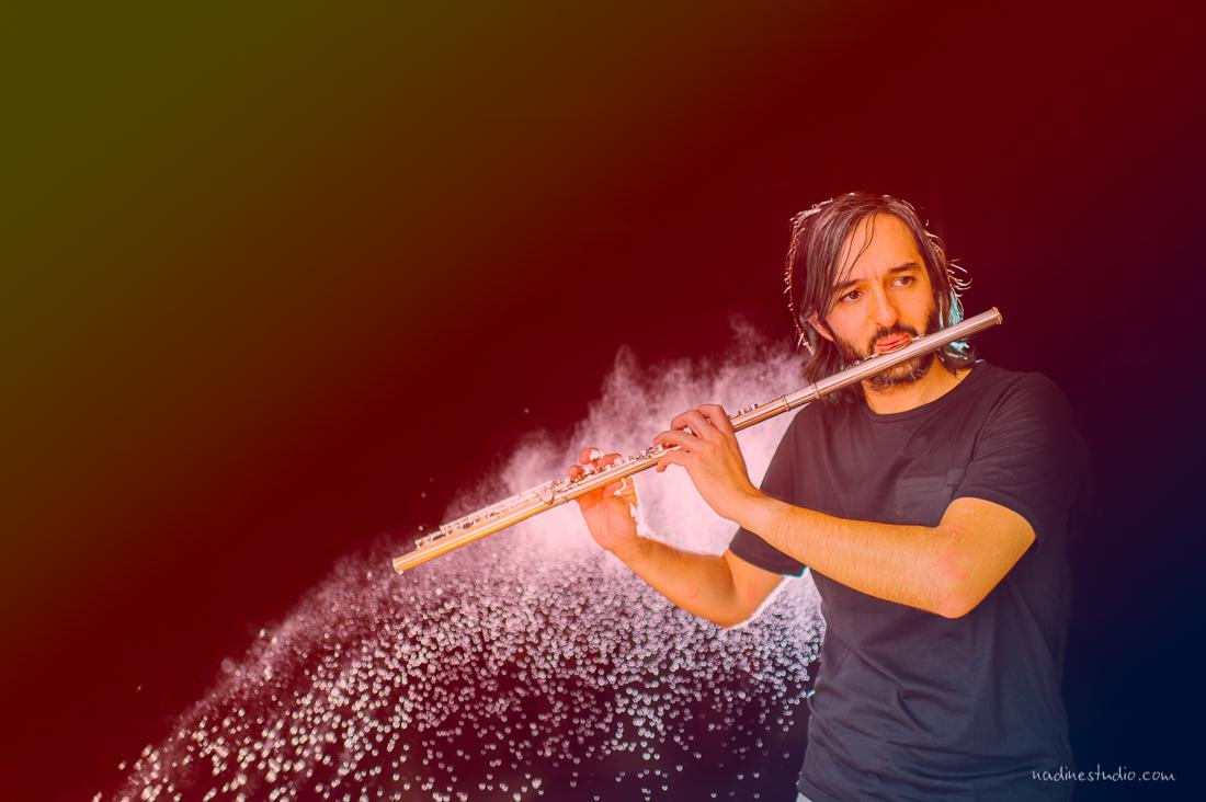 rainbow flautist flutist photography