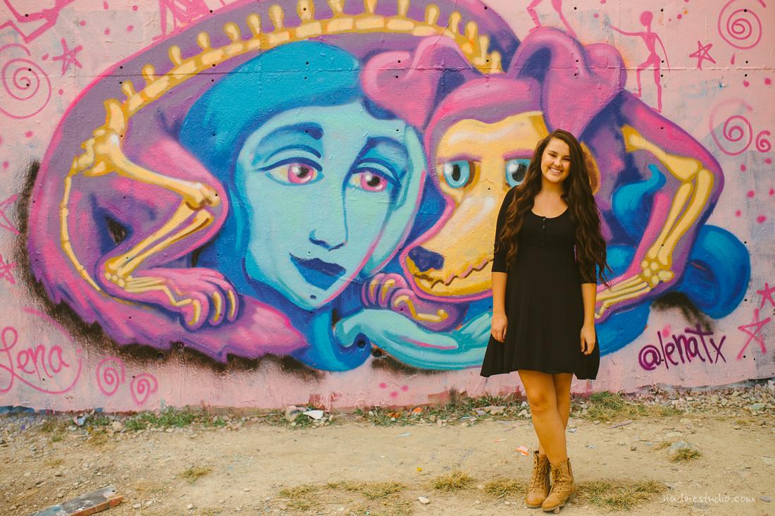 colorful graffiti senior pics
