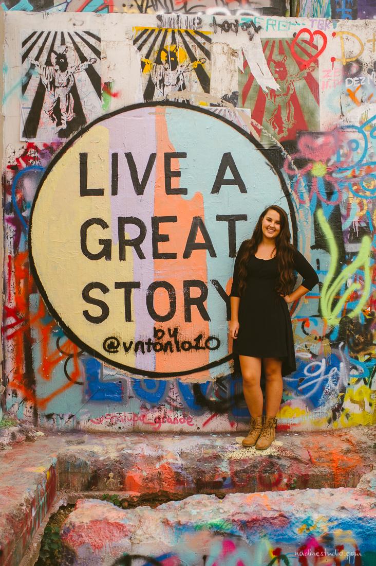 live a great story graffiti