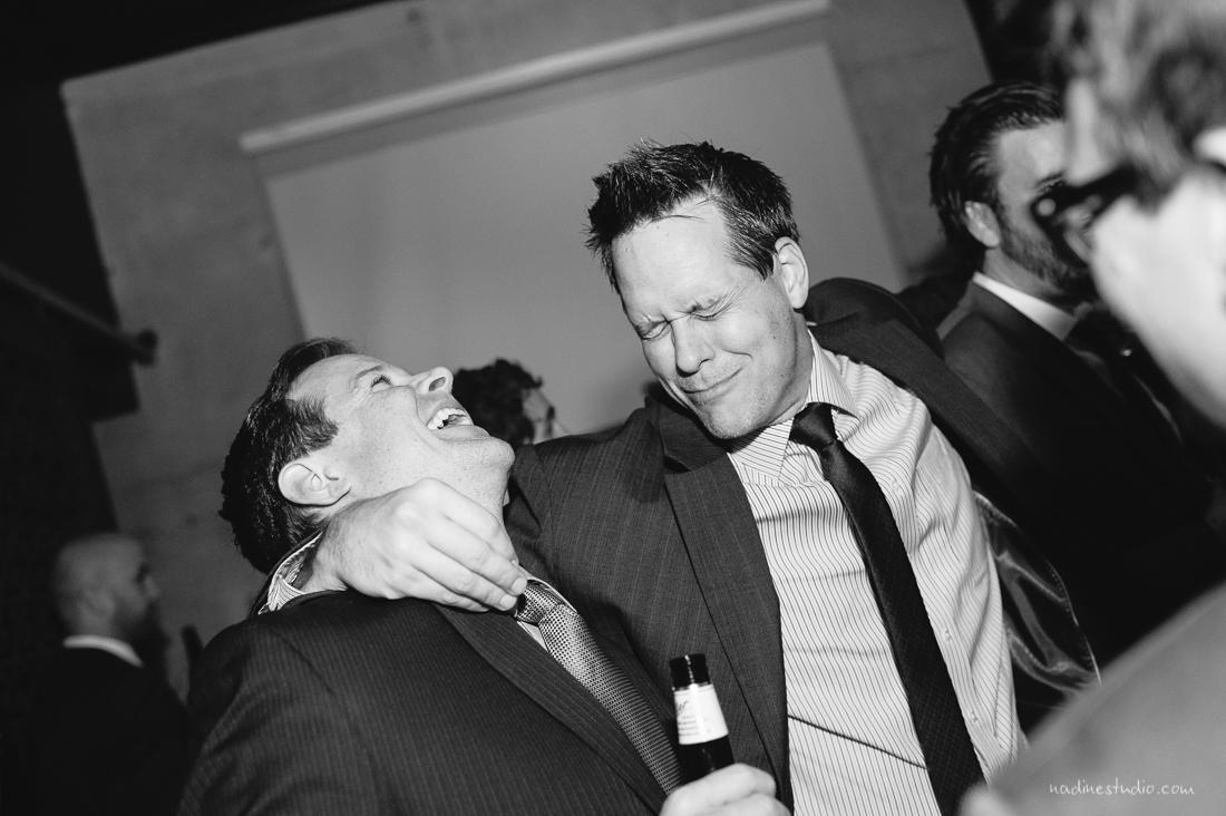 fun dancing at a reception