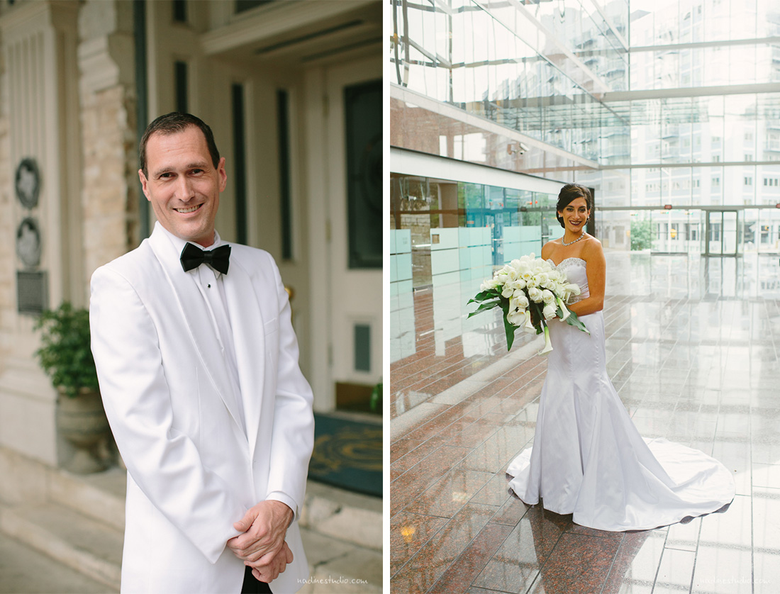 groom and bride at the omni hotel