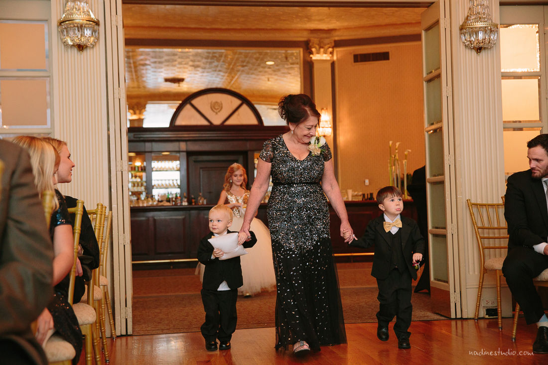 entrance of ring bearers