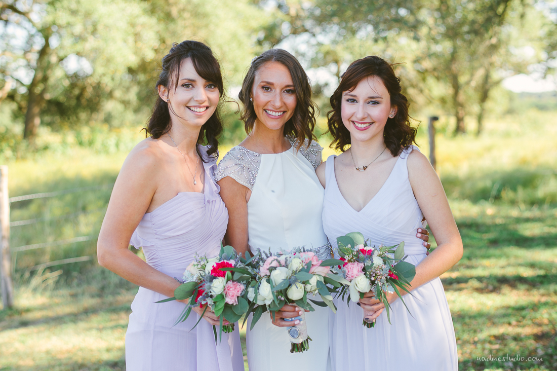pastel colors bridesmaids