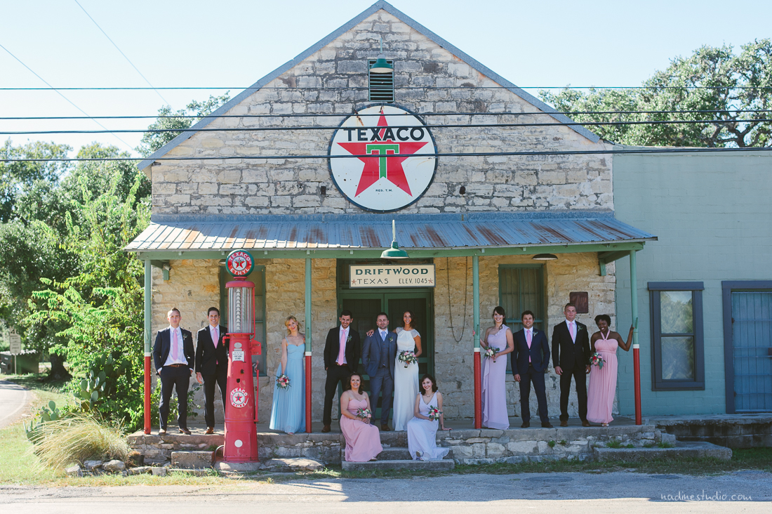 texaco bridal party and grooms photos