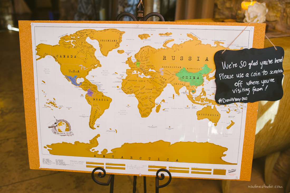 i love this map guest book