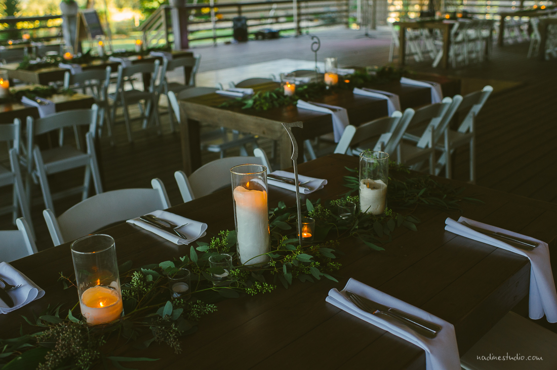 ranch farm tables and ivy