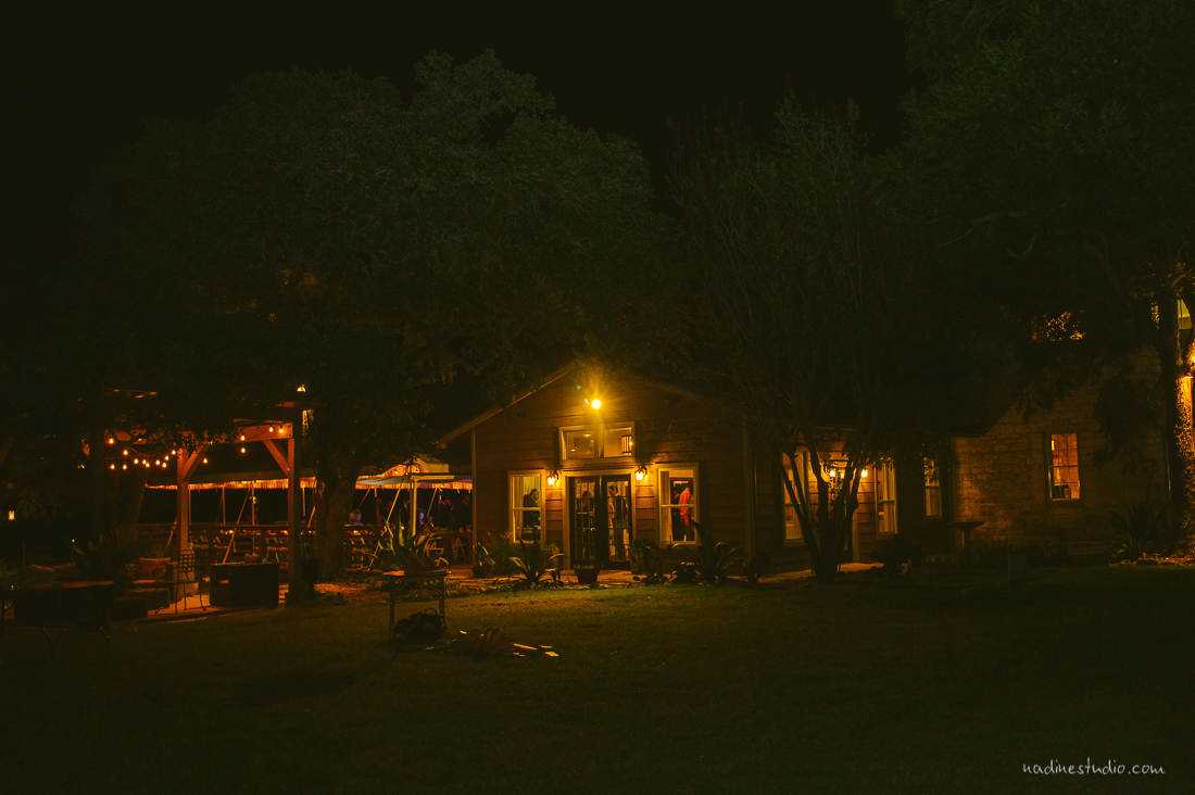 the ranch at night