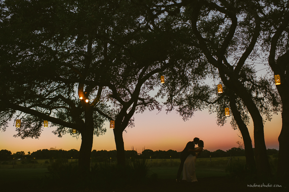 austin wedding photographer, sunset pink colors