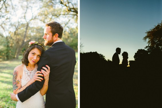 austin wedding photographers, sunset sillouette