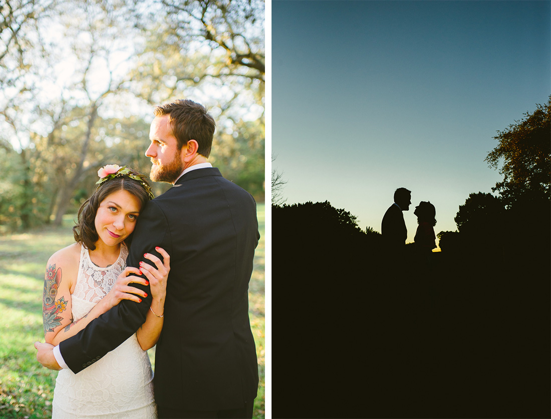austin wedding photographers, sunset sillouette