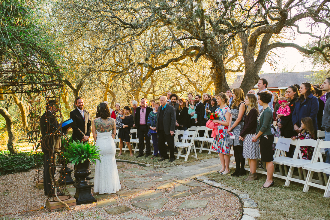 ceremony at wild rose hall