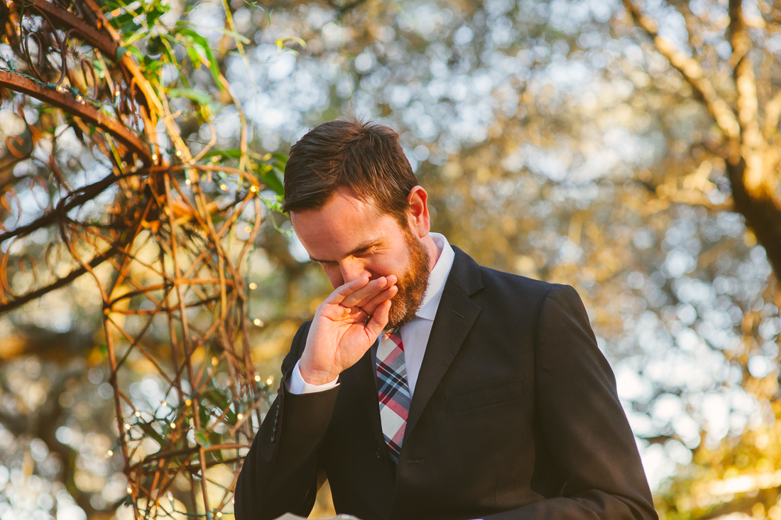 groom crying ceremony