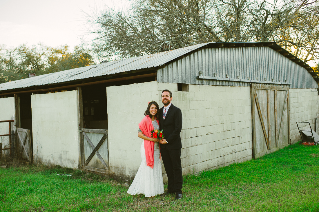 couple at the barn